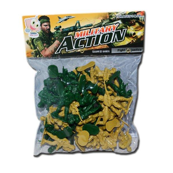 Bir Can Plastik Kucuk Oyuncak Asker Seti 40 Parca Brainbox Com Tr