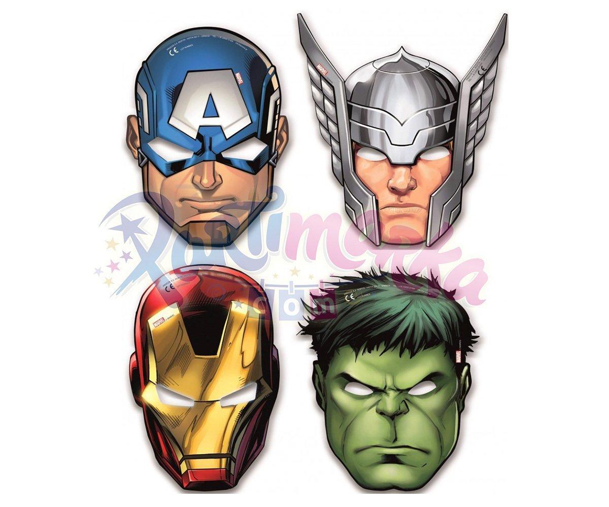 Avengers Maskesi Karton Maskeler Partimarka Yenilmezler Doğum Günü