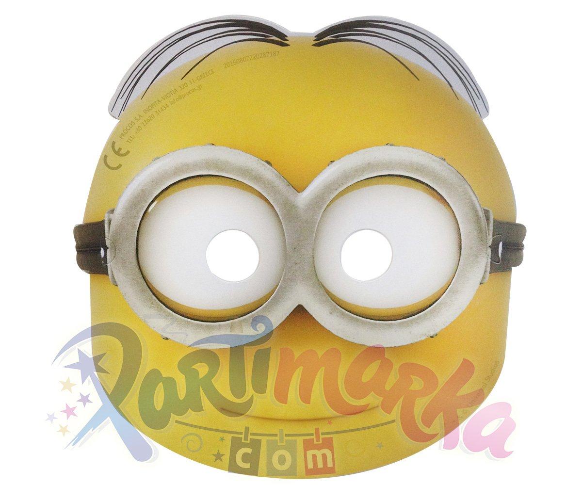 Minyonlar Maskesi 6 Adet Karton Maskeler Partimarka