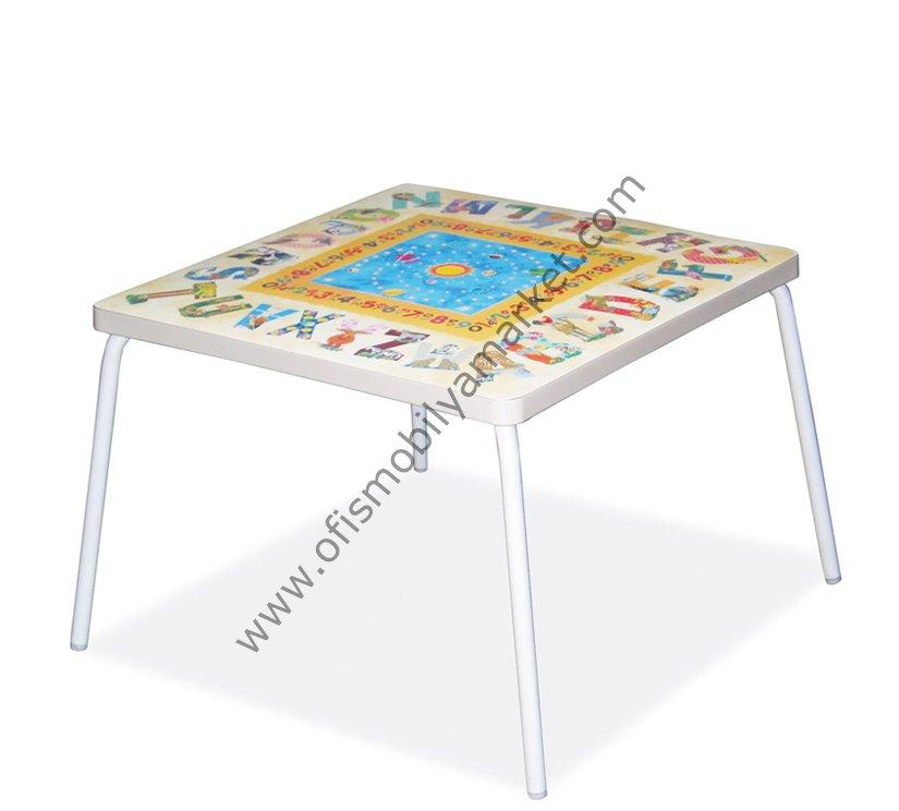 Dekorlu Mini Çocuk Masası