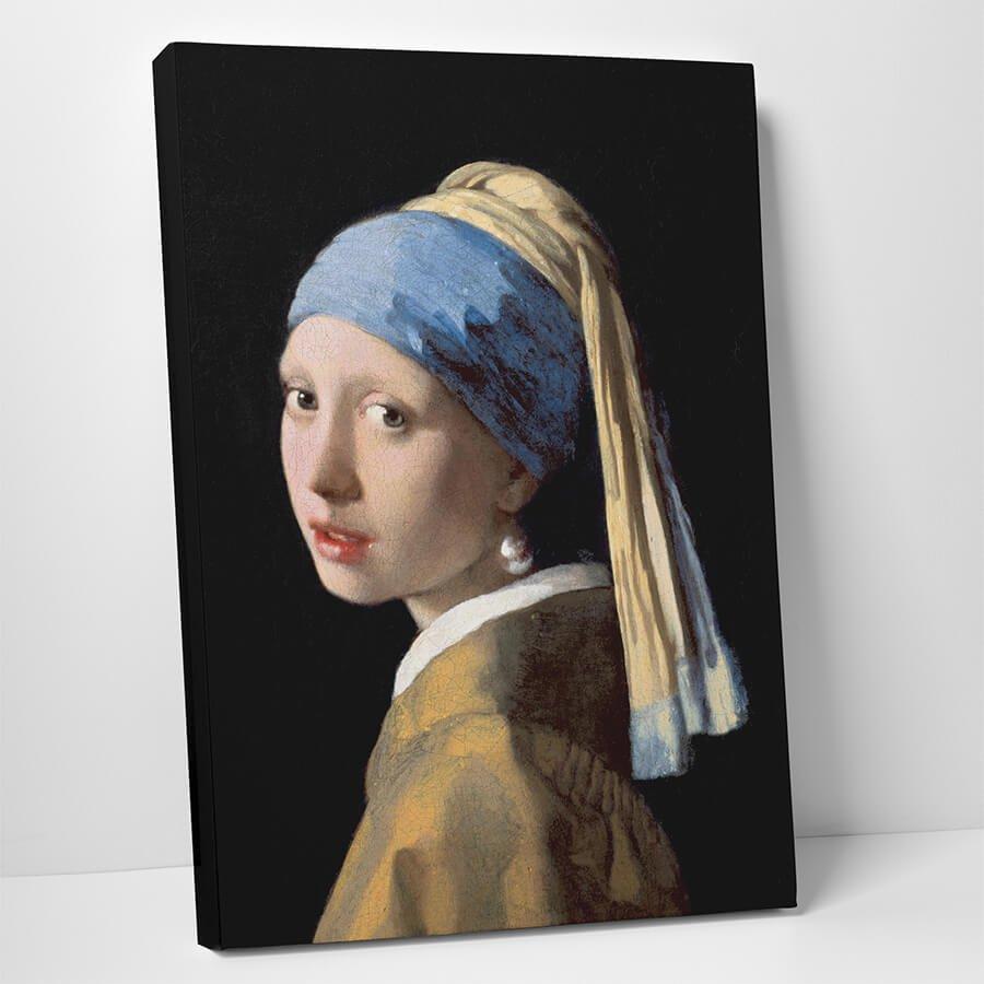 Johannes Vermeer Inci Kupeli Kiz Kanvas Tablo Kanvas Tablo Market