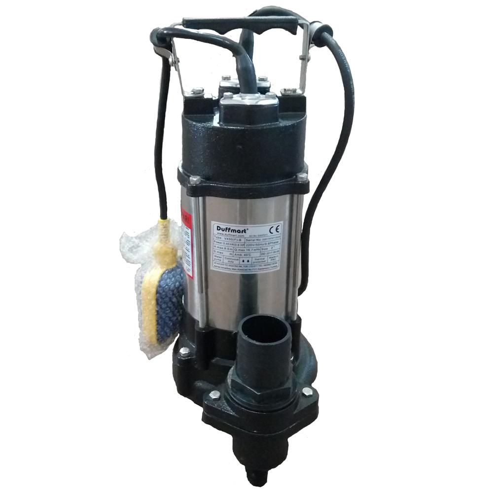 Duffmart V450F-A Pis Su Foseptik Parçalayıcılı Açık Fanlı Dalgıç Pompa