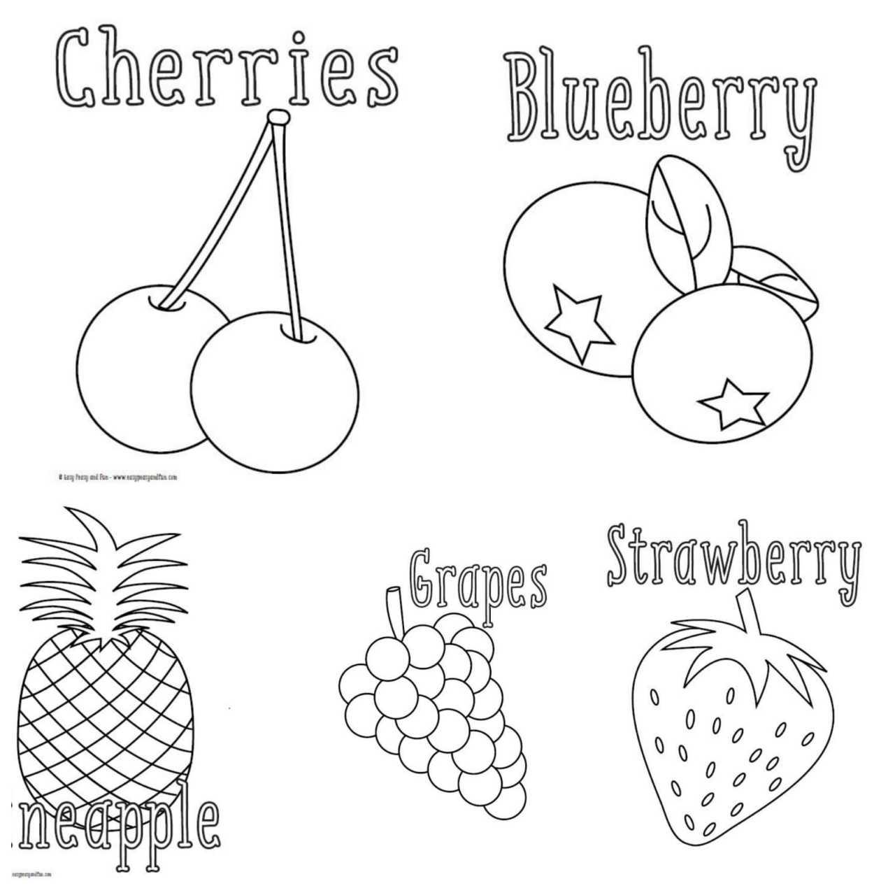Meyveler 10 Sayfa A4 Cikti Ingilizce Meyve Isimleri