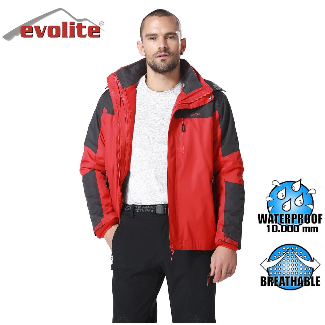 Evolite Diva Bay 3in1 Gri/Kırmızı Mont