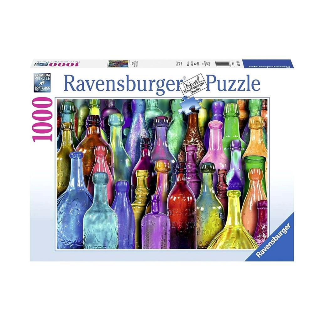 197279 Ravensburger, Renkli Şişeler 1000 Parça Puzzle