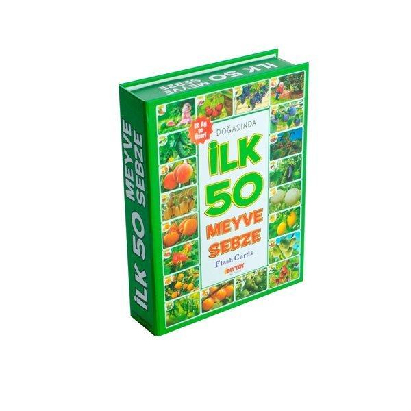 1420 DıyToy, Flash Cards - İlk 50 Meyve - Sebze / +12 ay