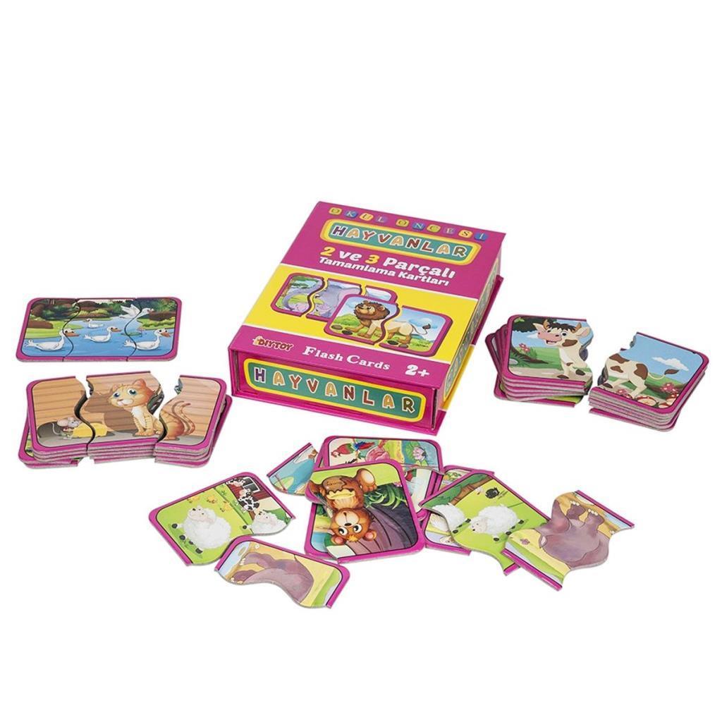 1185 DıyToy Flash Cards - Hayvanlar / + 2 yaş