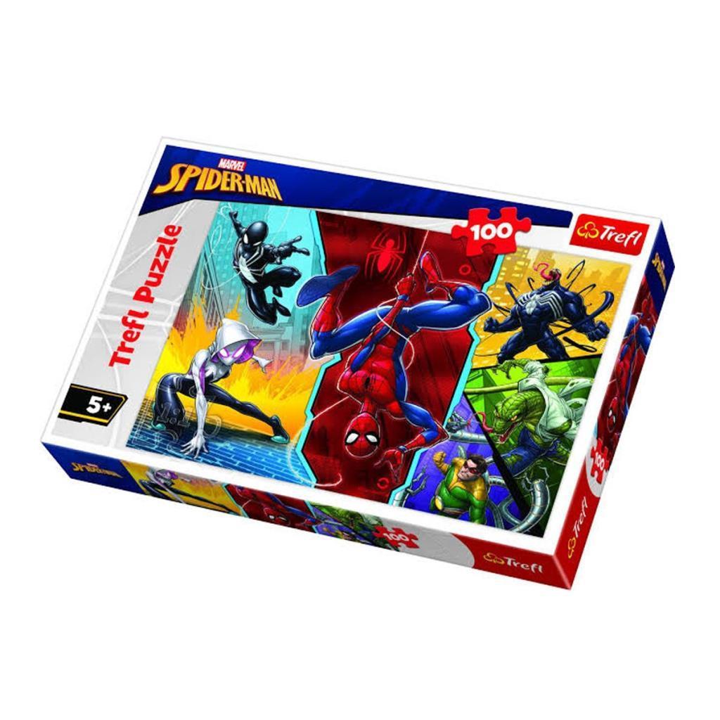 16347Trefl Puzzle Spiderman Upside Down 100 Parça Puzzle