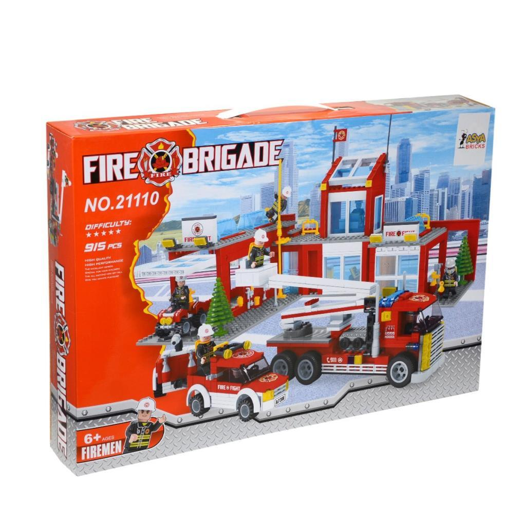 Asya Bricks İtfaiye Blok Seti