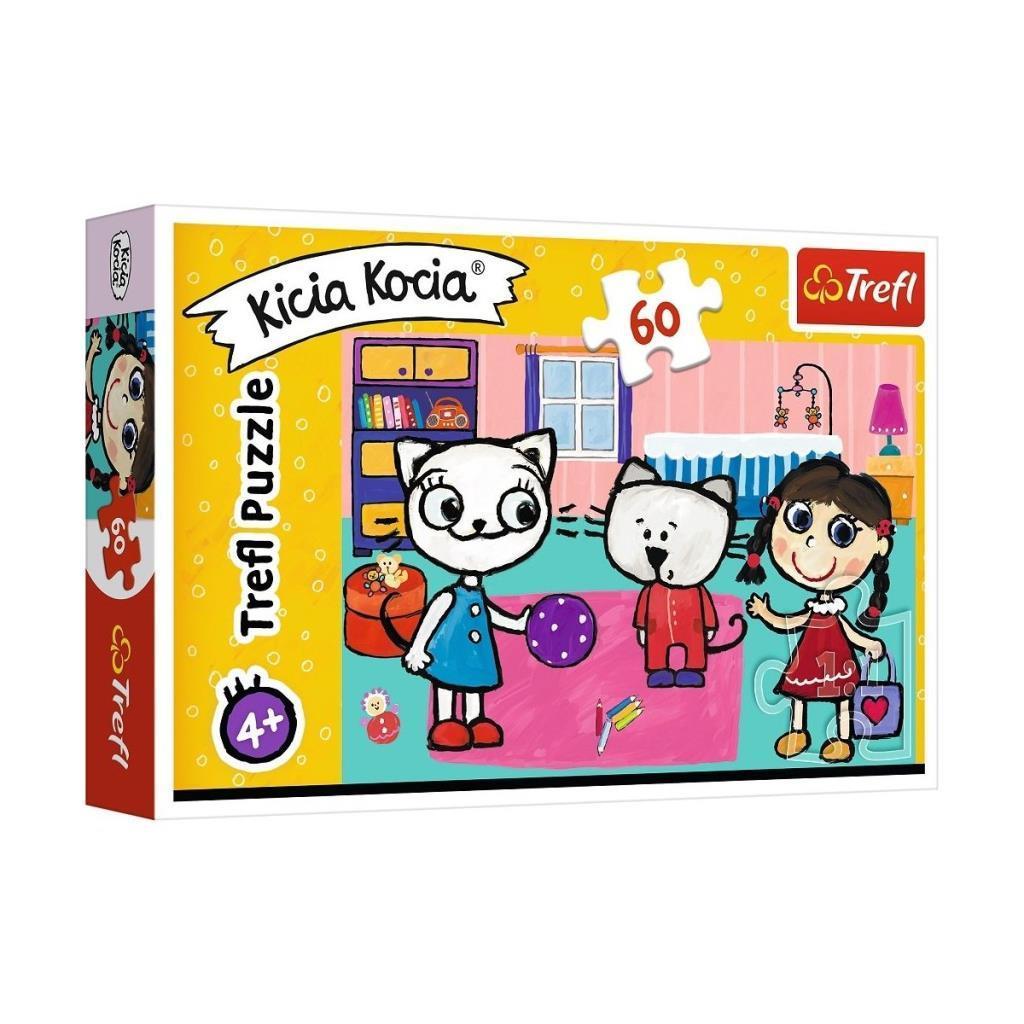 17343 Trefl Puzzle Kicia Kocia Kitty Cat With Friends 60 Parça Puzzle