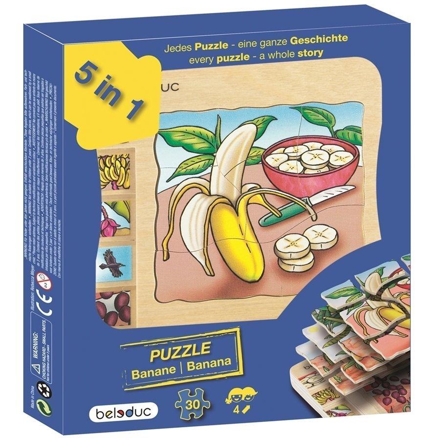 Beleduc Katlı Puzzle-Muz 15x15cm