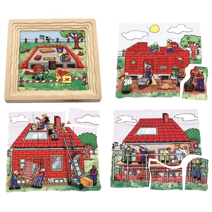 Beleduc Katlı Puzzle-İnşaat 21x21cm