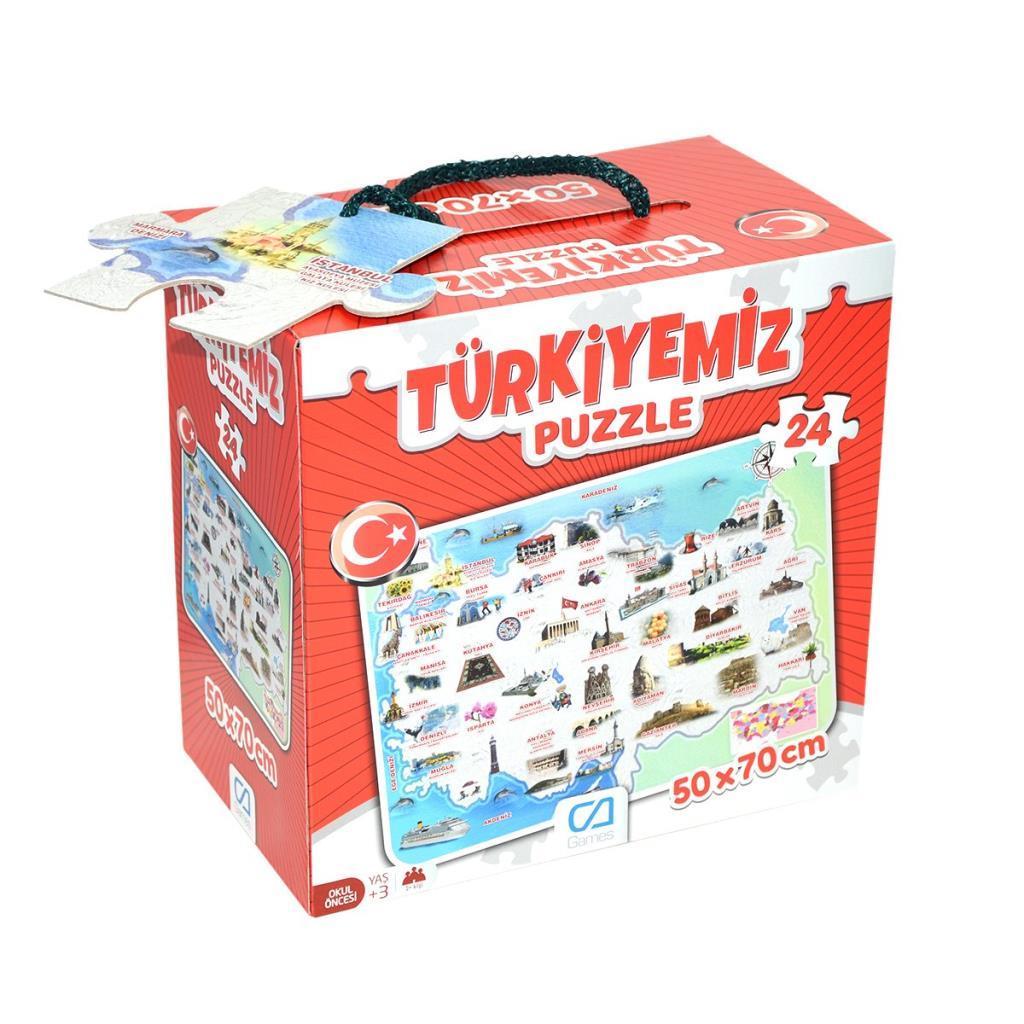 CA Games - Türkiyemiz - 24 parça Puzzle
