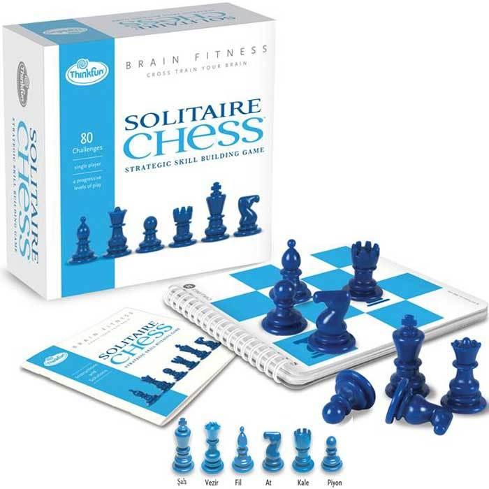 Tek Kisilik Satranc Brain Fitness Solitaire Chess Thinkfun Kidolina