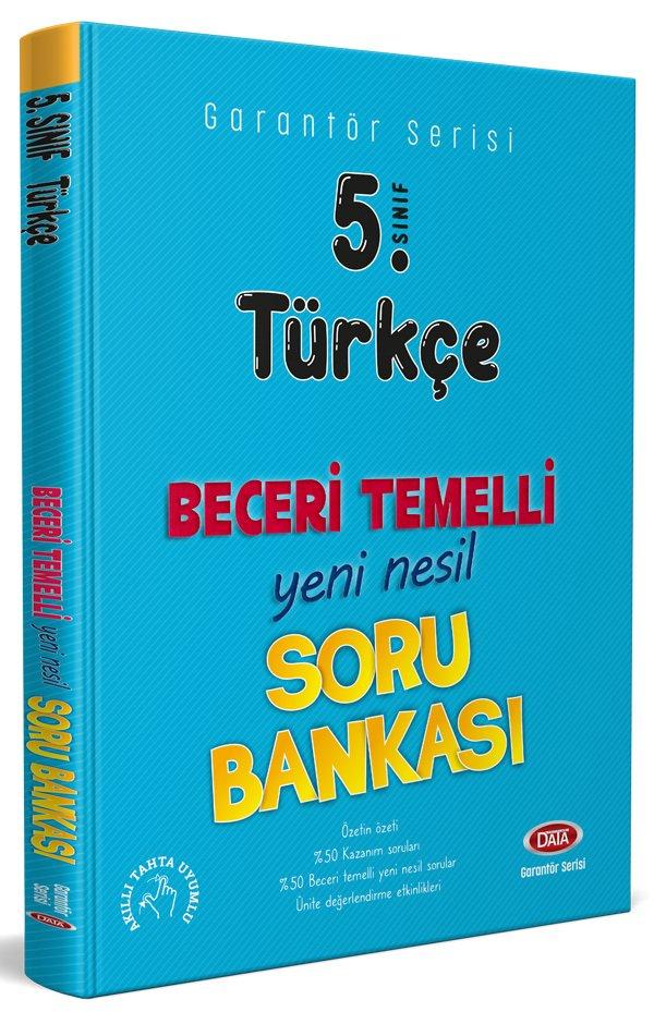 Data Yayınları 5. Sınıf Türkçe Beceri Temelli Soru Bankası (Garantör Serisi)