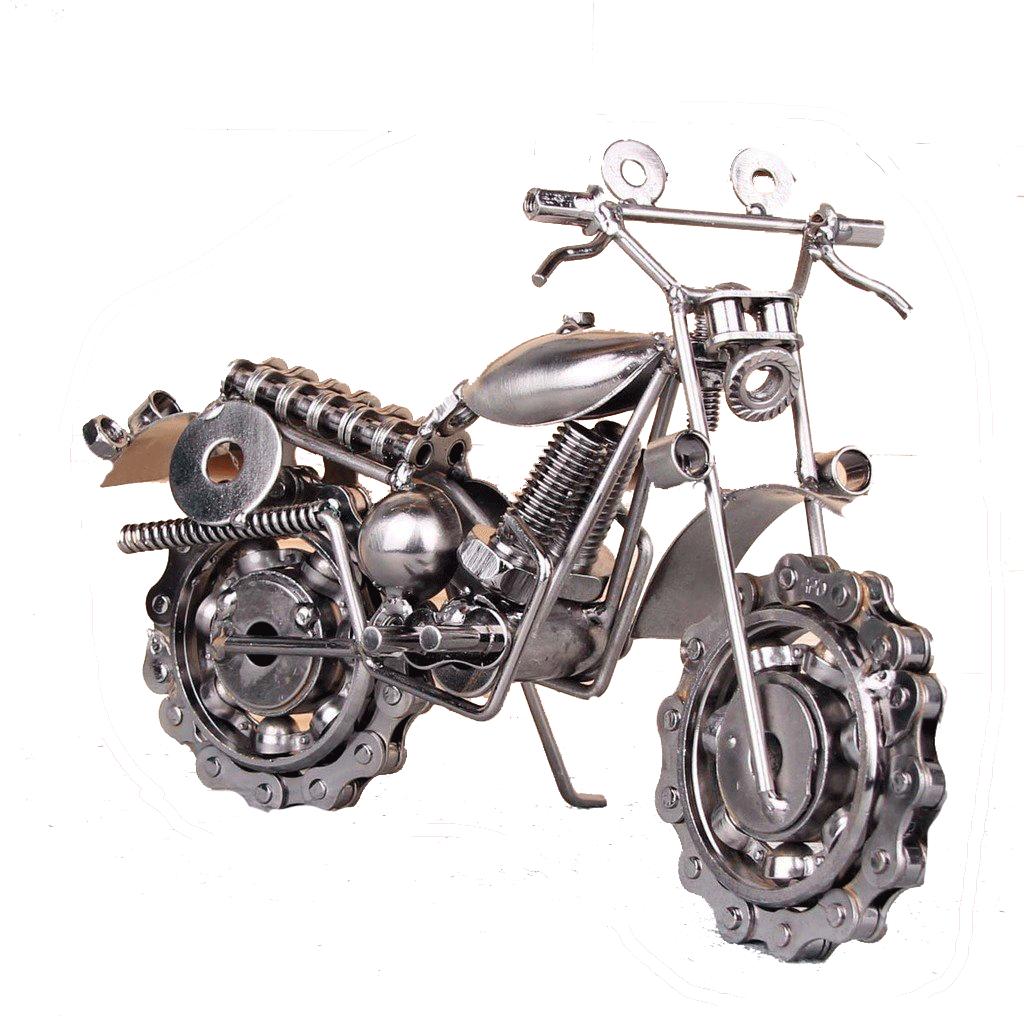 misiny buyuk boy el yapimi metal motosiklet maketi