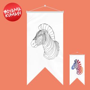 Zebra Kırlangıç Boyama Kumaşı 50x70 Cm ölçüleri Ve Fiyatları