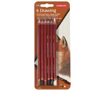 Derwent Drawing Pencils Renkli Çizim Kalemi Seti 6'lı Blister