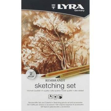 Lyra Rembrandt Skethcing Set 11'li Metal Kutu (Eskiz Seti)