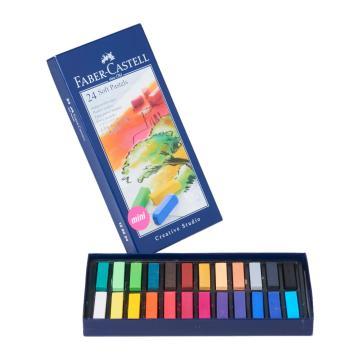 Faber Castell Creative Studio Toz (Soft) Pastel Boya 24 Renk Yarım Boy
