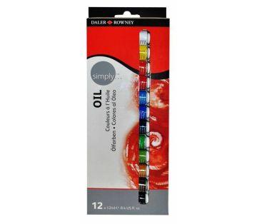 Daler-Rowney Simply Oil Set 12 Renk x 12 ml. Yağlı Boya