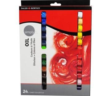 Daler-Rowney Simply Oil Set 24 Renk x 12 ml. Yağlı Boya