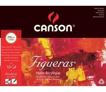 CANSON FİGUERAS TUVAL GÖRÜNÜMLÜ YAĞLIBOYA DEFTERİ 290 GR 19*25 CM 10 SAYFA
