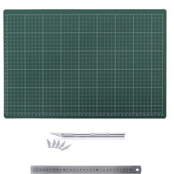 Art Design Kesim Tablası Seti A4 22*30 cm Cetvel+Kretuar
