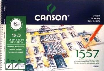 Canson 1557 Eskiz Spiralli Çizim Defteri 25*35 cm 180 gr 15 Sayfa