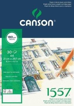 Canson 1557 Eskiz Spiralli Çizim Defteri A4 180 gr 20 Sayfa