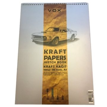 Vox Kraft Çizim Defteri A4 100 gr 40 Sayfa
