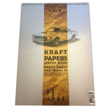 Vox Kraft Çizim Defteri A5 100 gr 40 Sayfa