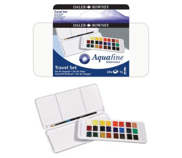 Daler Rowney Aquafine Travel Set 24 Renk Sulu Boya