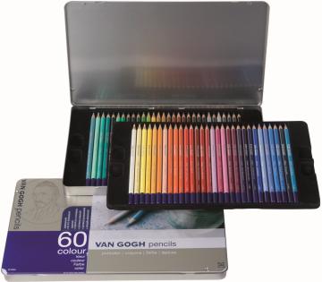 Van Gogh Colour Kuru Boya Kalemi Metal Kutu 60'lı