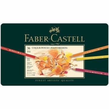 Faber Castell Polychromos Kuru Boya Kalemi Metal Kutu 36'lı