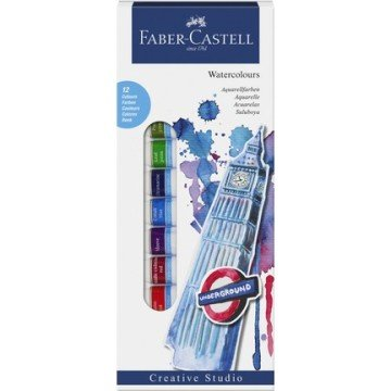 Faber Castell Watercolours Tüp Sulu Boya 12 Renk x 12 ml.