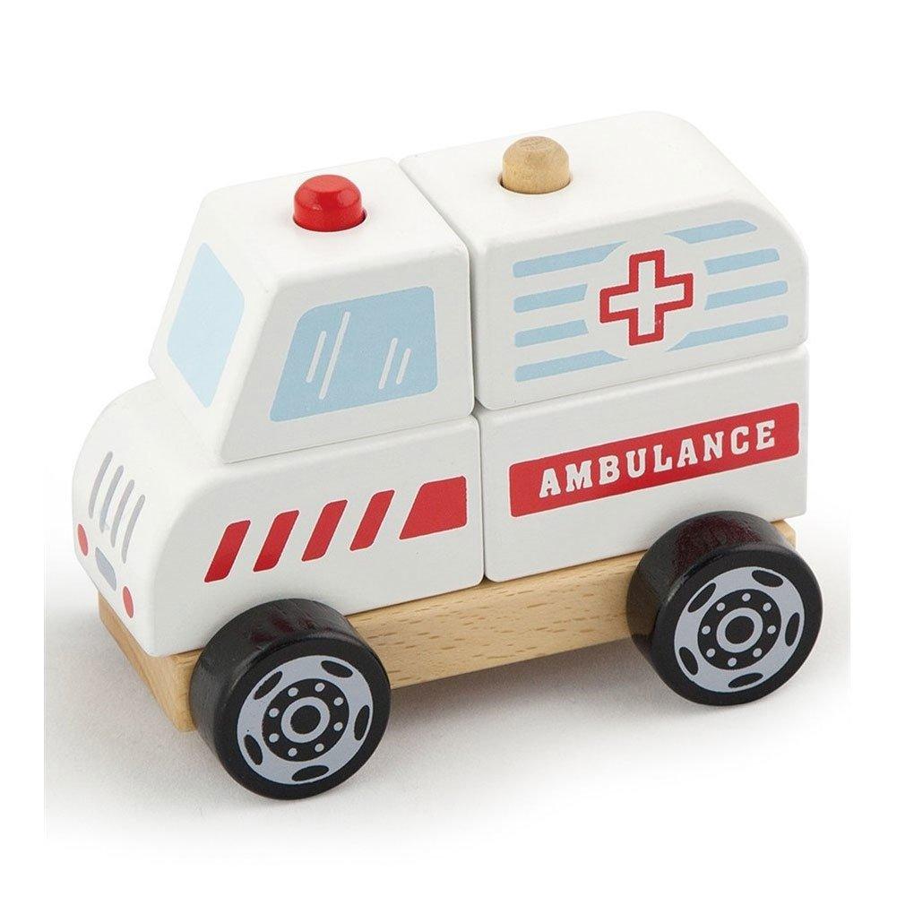 Ahsap Oyuncak Araba Ambulans Egitici Oyuncaklar Kitatoys Com Da