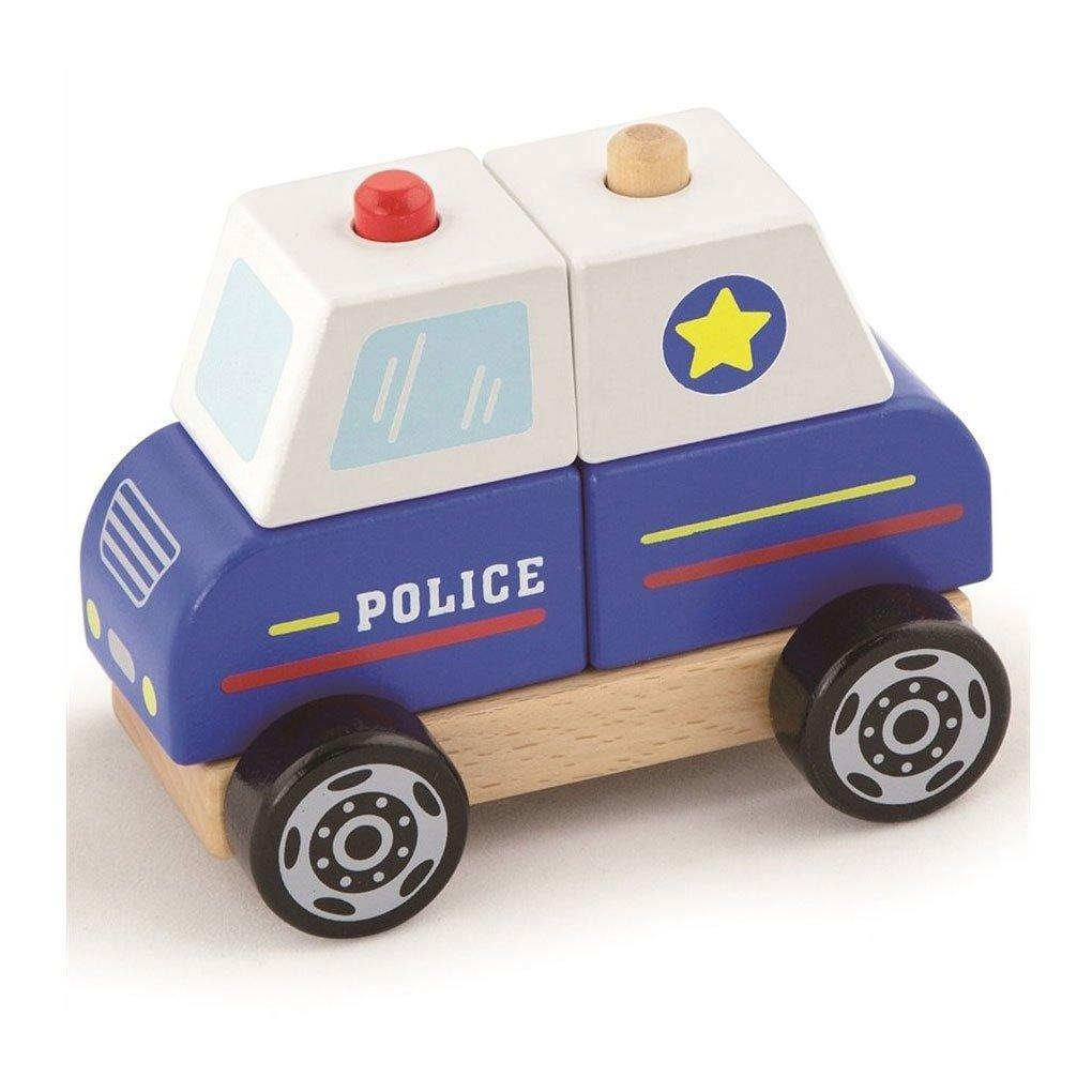 Ahsap Polis Arabasi Egitici Oyuncaklar Ve Ahsap Araba Kitatoys Com Da