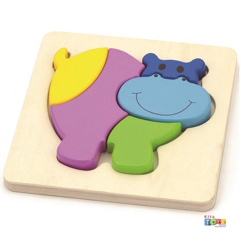 2d Ahsap Puzzle Su Aygiri Egitici Oyuncaklar Kitatoys Com Da