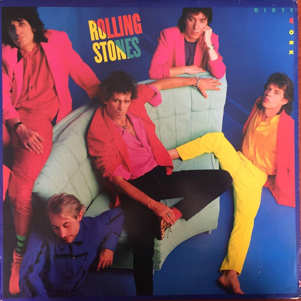 Rolling Stones Dirty Work LP Plak