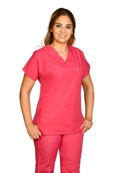 Kadın Fuşya Doktor Hemşire Forması | Taç Medikal