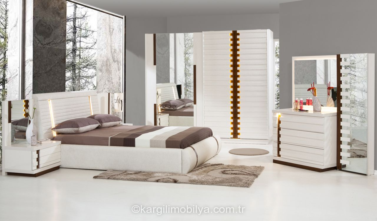 Modern yatak odalar sude yatak odas takm - Stilo Yatak Odas Tak M Beyaz
