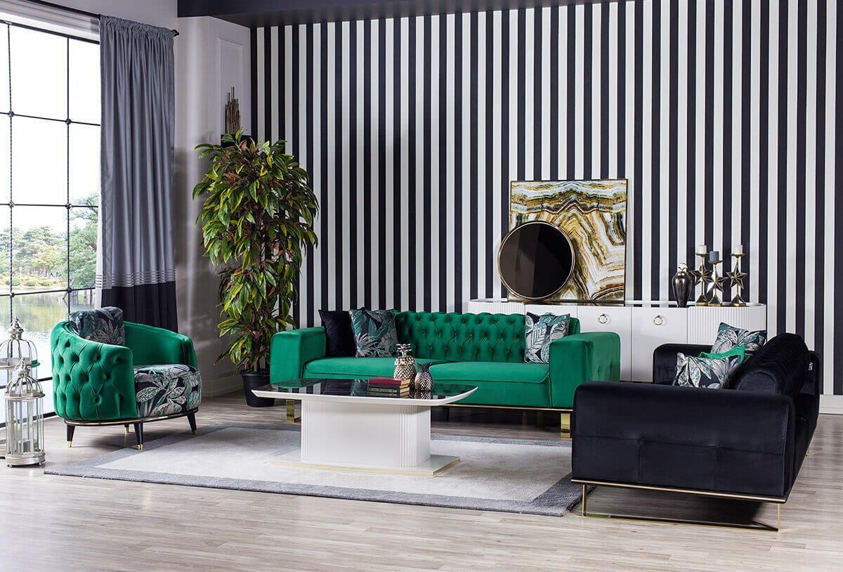 Chanel Koltuk Takimi Kargili Mobilya