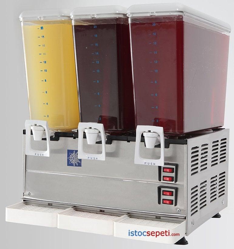 Limonata Makinası Vişne Meyve Suyu Soğutucu 3 lü - Remta Şerbetlik ve Ayran Soğutucu  - 2.749,00 TL
