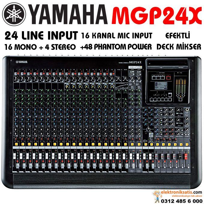 Yamaha mgp24x 24 kanal mikser 24 kanal deck mikser for Yamaha mgp24x 24