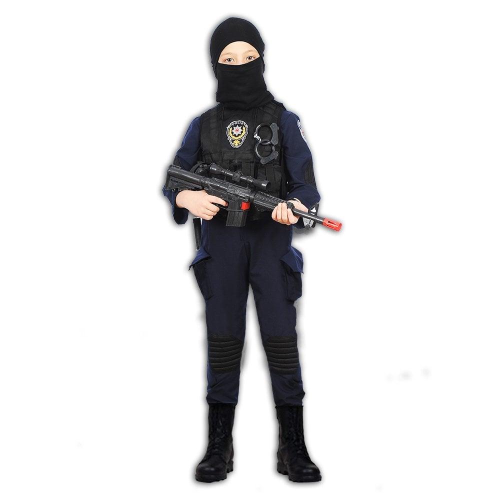 Herkese Kostum Polis Ozel Harekat Timi Cocuk Meslek Kostumu 11 12 Yas
