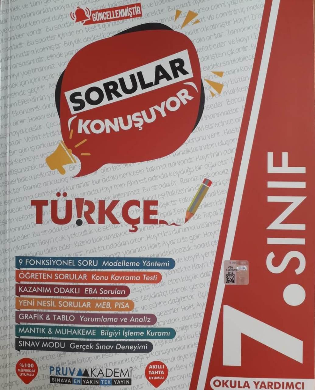 7. Sınıf Türkçe Soru Bankası Pruva Akademi