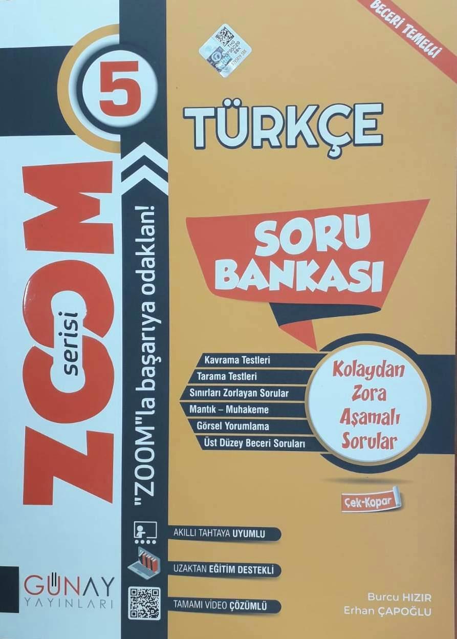 Günay Yayınları 5. Sınıf Türkçe Zoom Soru Bankası