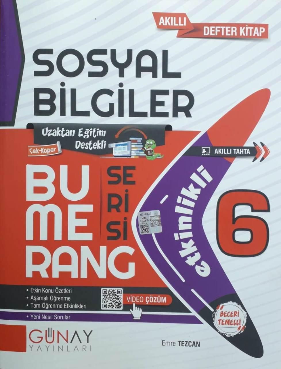 Günay Yayınları 6. Sınıf Sosyal Bilgiler Etkinlikli Bumerang Serisi