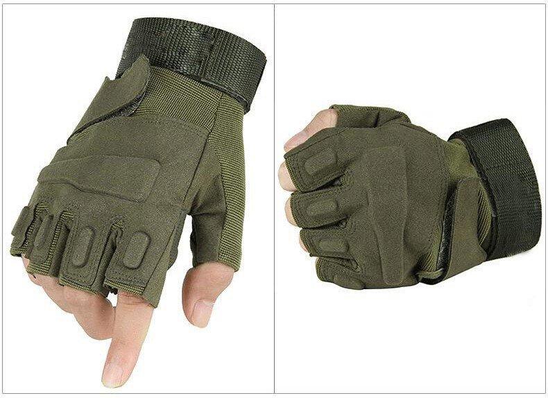 Tactical Kesik Parmak Eldiven Yeşil Blackhawk